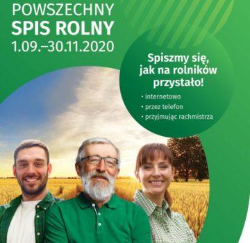 Obrazek przedstawia grafikę promocyjną powszechnego spisu rolnego 2020